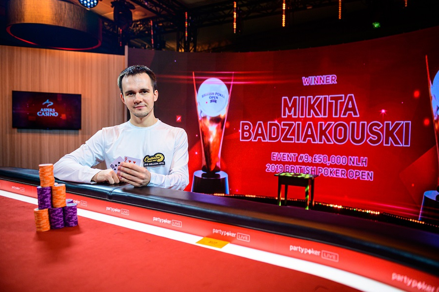 Mikita Badziakouski - British Poker Open