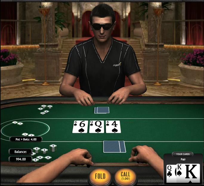 Poker3 Heads-Up Hold'em Flop