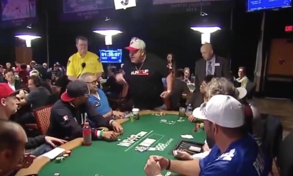 Poker Players Yelling