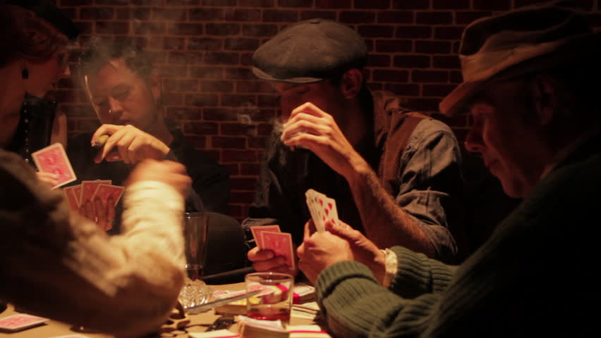 Smoking Poker Players