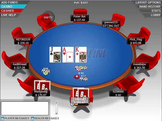 bet online poker room
